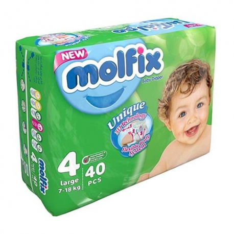 پوشک مولفیکس سایز 4 بسته 40 عددی
