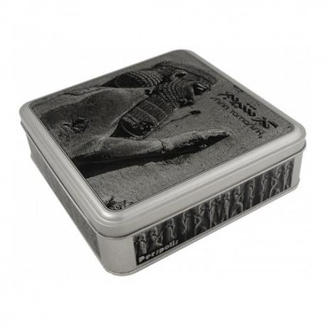 گز شیرین آردی سکه ای 35 درصد پسته 400 گرمی بدون انگبین جعبه فلزی