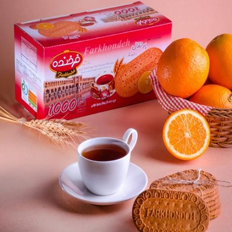 بیسکویت 1000 فرخنده با طعم پرتقال و تزیین شکر