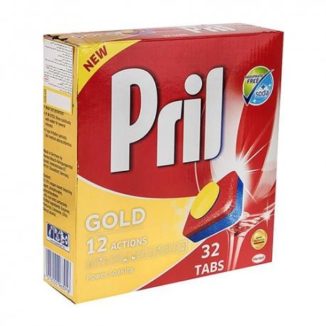 قرص ماشین ظرفشویی پریل طلایی بسته 32 عددی
