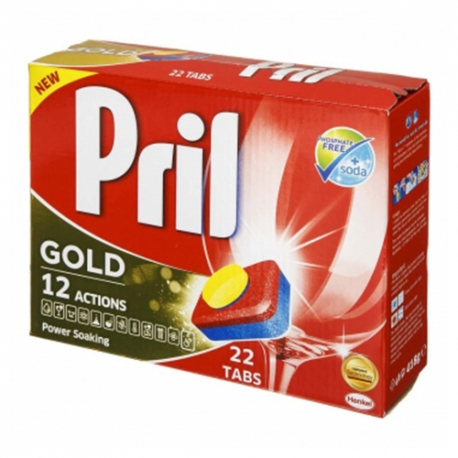 قرص ماشین ظرفشویی پریل طلایی بسته 22 عددی