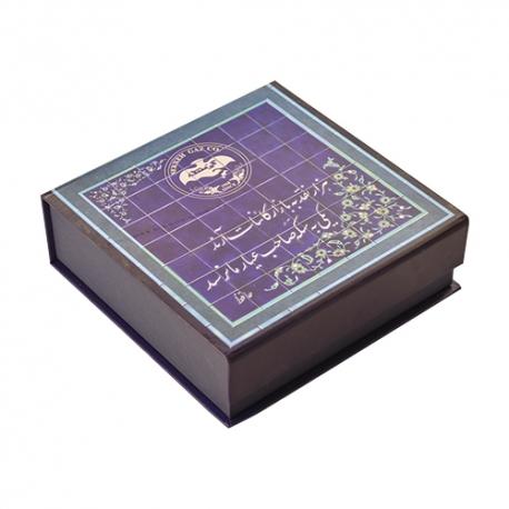 گز سکه لقمه 40 درصد پسته 300 گرمی زعفرانی فانتزی برند عتیق   جی شاپ