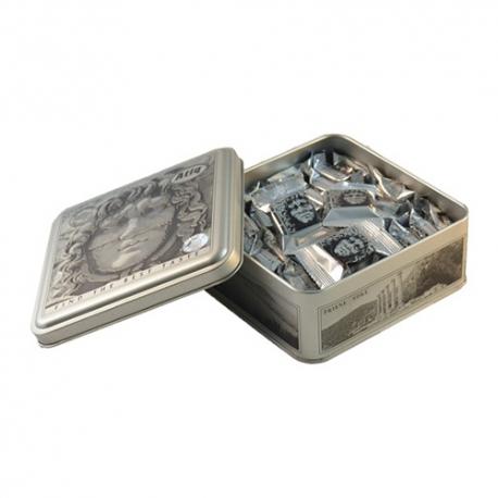 گز سکه لقمه پسته شکلاتی 450 گرمی مدوزا فلزی برند عتیق   جی شاپ