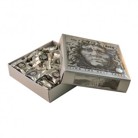 گز سکه لقمه پسته شکلاتی 450 گرمی مدوزا مقوایی برند عتیق   جی شاپ